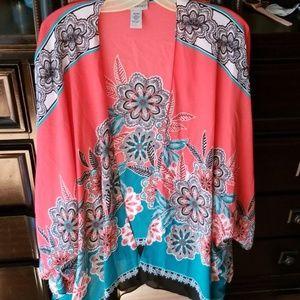 Multi colored kimono cardigan